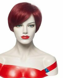 Short Straight Wig Hairpiece For Lady American Hairstylist Fashionable Head Wear