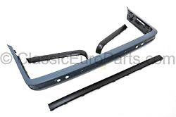 Euro Rear Plastic Bumper Set With Trim For Bmw E30 Late Model Nfl 318 320 325