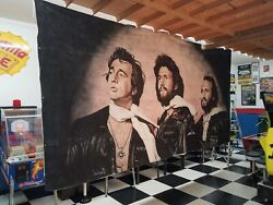 Bee Gees Wall Art - Huge 20' X 8' One Of A Kind Custom For Museum Andy Gibb Wow