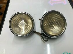 Pair Vintage Early Cowl Lamp Lights Old Auto Automobile Car Fender 1920's 1930's