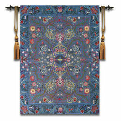 Flowers By William Morris Woven Tapestry Wall Medieval Art Hanging 100% Cotton