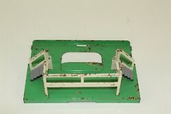Collectible Vintage Green White Platform Model Train Piece For Parts Or Repair