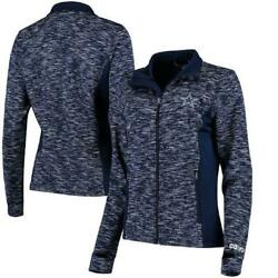 Dal-las Cow-boys Womenand039s Navy Full Zip Spaced Dyed Play Off Jacket