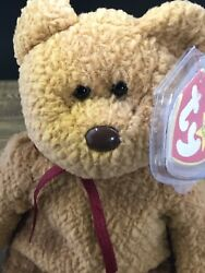 Ty Original Beanie Baby Curly 1993 With Brown Nose - See Description