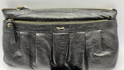 TUSK Pewter Clutch Shoulder optional Strap Zipper Handbag N WOT Vintage 56 $24.99