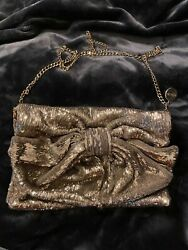 RED Valentino All Over Sequins Bow Clutch Evening Bag Made In Italy Nwts RARE $500.00