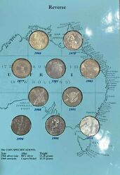 Australian 50 Cent Commemorative Coin Collection In Excellent Presentation Fo