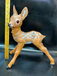 Vintage Large Zeho Hard Plastic Deer Fawn Made In W. Germany 16 In Tall