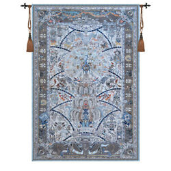 Huge Peacock Palace Jacquard Woven Tapestry Wall Medieval Hanging 100% Cotton