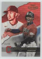 2020 Topps Gold Label Class 3 Red /25 Francisco Lindor 32
