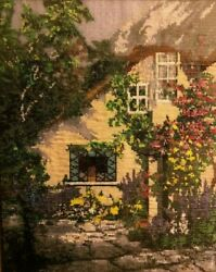 Kevin Enos Hand Beaded Framed Picture Wall Art French Mountain Cottage 10x8