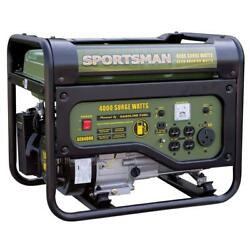 4000/3500-watt Gasoline Powered Portable Generator With Rv Outlet