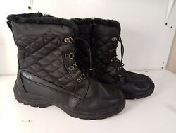 Totes Waterproof Insulated Black Boots #16336 0 Size 8 Med Black All Weather $23.99