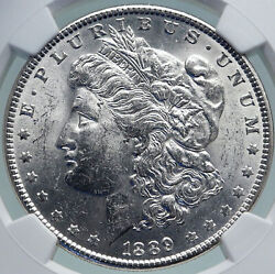 1889 United States Of America Silver Morgan Us Dollar Coin Eagle Ngc I87360
