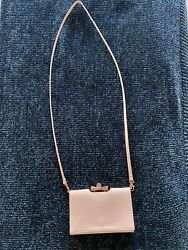 Ted Baker Patent Leather Evening Crossbody Bag Light Pink $30.00