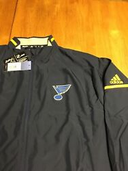 St Louis Blues Adidas Authentic Rink Jacket 2x. New Srp110.
