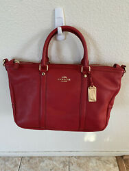 Coach Pebbled Small Coach Central Satchel $150.00