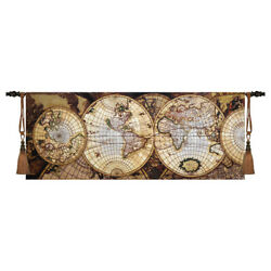 Map of The World Woven Tapestry Wall Medieval Art Hanging Home Decor 100% Cotton