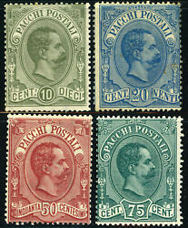 Italy Parcel Post Q1-q4 1-4 Postage Stamp Collection 1884-86 Europe Mint Nh Og