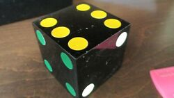 2 1/8 Inch Black With Different Colored Spots Dice 250 Grams