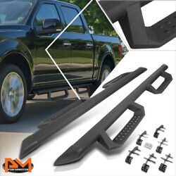 For 15-20 Ford F150 Crew Cab 4 Round Side Nerf Bar Running Boards W/drop Step