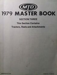 Mtd 1979 Garden Tractor, Implements And Walk-behind Reel Mower Master Parts Manual