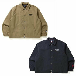 A Bathnig Ape Unisex B Collection Patch Logo Relaxed Coach Jacket 2colors New