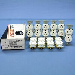 10 Hubbell White Tamper Resistant Duplex Receptacle Outlets 5-15r 15a Rr15swtr