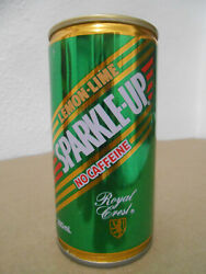 Vintage Sparkle Up Lemon Lime Cola Crimped Steel Stay Tab 280ml Soda Can Clean