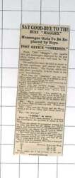 1919 Post Office Maggie Messenger Girls To Be Replaced By Boys GBP 6.00