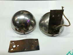 Pair Vintage Cowl Lamp Parts Lights 20and039s 30and039s Chrysler Plymouth Dodge Car Truck