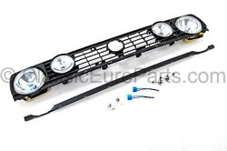 Euro Conversion 4 Headlight And Fog Light And Grill Set For Vw Golf Rabbit Mk2 Gti