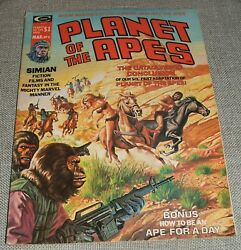 Planet Of The Apes Volume 1 Number 6 Vintage Magazine 1975 See Photos