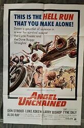 Angel Unchained Movie Poster Biker Don Stroud Motorcycle Tyne Daly Larry Bishop