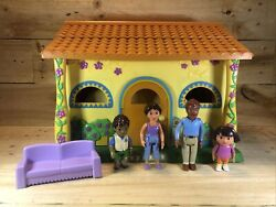Dora The Explorer Pop-up Talking Doll House, Dora, Diego, Mom, Dad Figures,couch