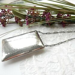 Antique Sterling Silver Compact Chatelaine Purse Sovereign Coin Holder