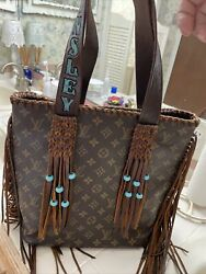 Refurbished Authentic LV Bag With Leather Fringe And Turquoise Beads $799.00