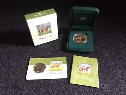 5 Phar Lap 2 Coin Set Proof And Uncirculated / Bonus Cards  Free Ship From Us
