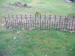 Old Antique Ornate Wrought Iron Victorian Fence 2 Sections total length 15#x27; Feet