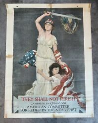 Ww1 Us Propaganda Poster Middle East Fundraise Ww2 Vet Estate Victory Home Front