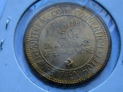 Montreal Coin Convention Good For 50 Cents Laurentien Hotel Token