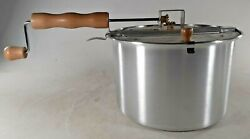 The Genuine Whirley-pop Stovetop Popcorn Popper Hand Crank Wabash Valley Farms