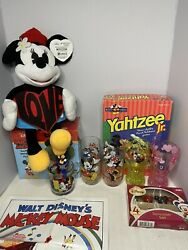 Disney Mickey Mouse Board Games, Cups, Plush, Poster,pez,chia Pet, Spreader Set.