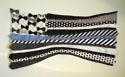 American Flag Made Out Of Men's Neckties And Bow Tiesuniquehonors Policebandw.b-1