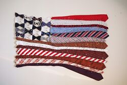 Handmade American Flag Made Out Of Men's Neckties Each One Is Unique Rwb-3