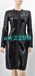 Vintage Iconic Rare To Find Sequins Runway Dress Jacket 38 Cc Logo New