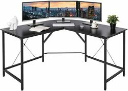 L Shaped Desk L Desk Study Work Table Gaming Office Computer Corner Industrial
