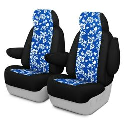 For Ford Courier 72-82 Hawaiian 1st Row Blue W Black Custom Seat Covers
