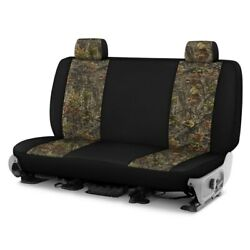 For Ford Courier 72-82 Camo 1st Row Woods W Black Custom Seat Covers