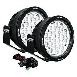 Vision X 9907451 Cannon Cg2 Multi 8.7 2x168w Round Driving Beam Led Lights